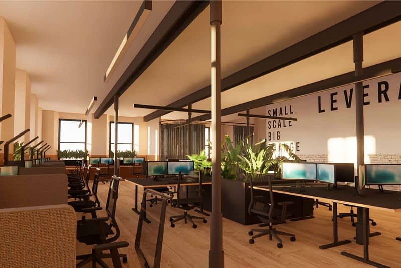 Leverage co-work space